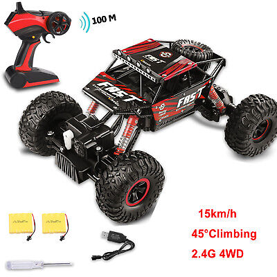 4WD RC Monster Truck Off Road Vehicle 2.4G Remote Control Buggy Crawler Car (Best 4wd Rc Car)