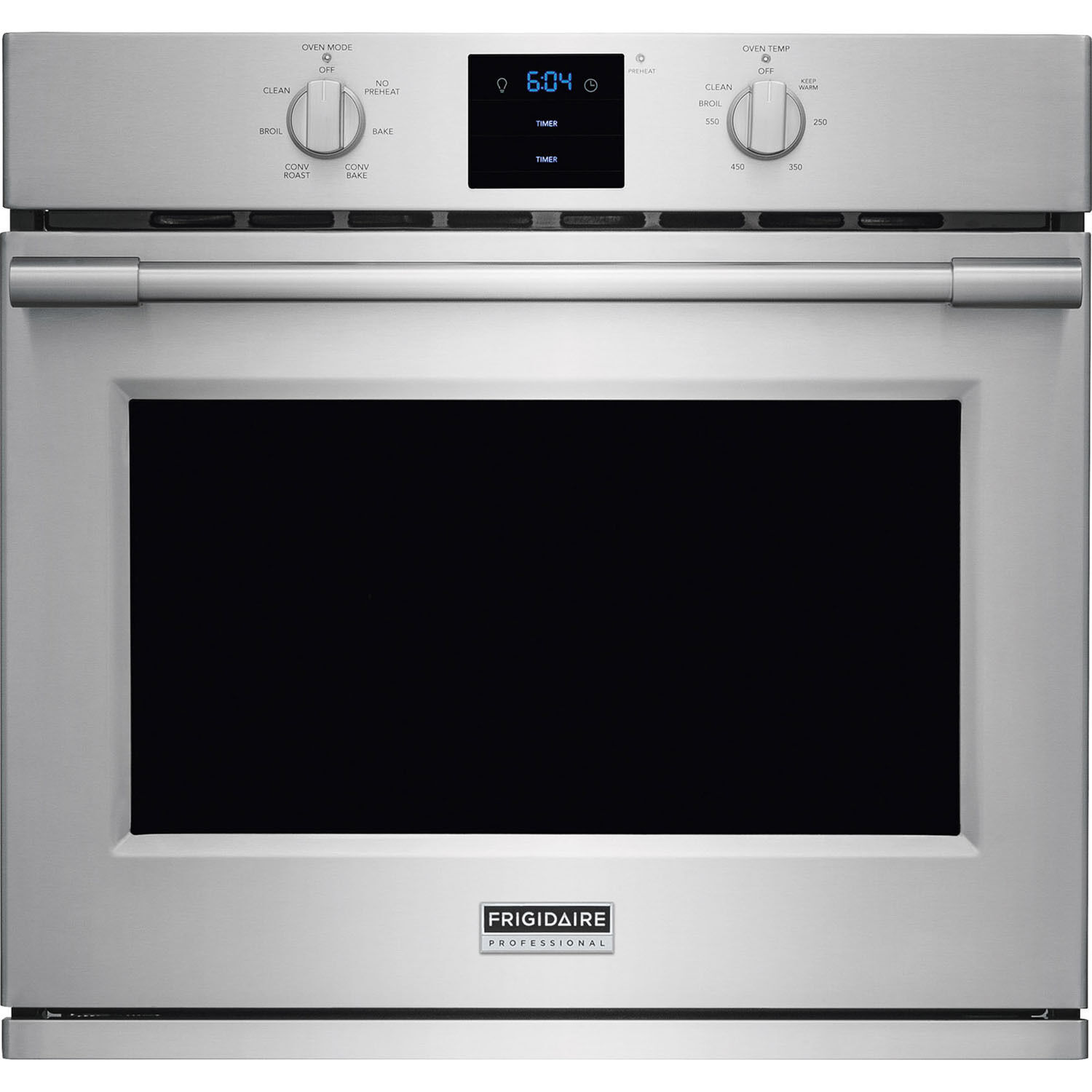 """Frigidaire Stainless PRO 30"""" Electric Single Wall Oven Conve"""