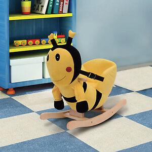 baby kids toy plush rocking horse style bumblebee theme chair seat rocker baby nursery cool bee animal rocking horse