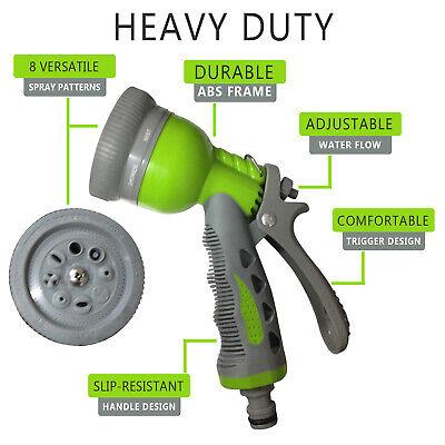 8 Function Dial Garden Plant Hose Spray Jet Gun Water Sprayer Nozzle