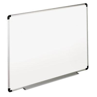 Universal Dry Erase Board Melamine 72 X 48 White Blackgray Aluminumplastic