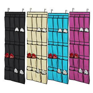 20 pockets hanging over door shoe organisers storage rack - Range chaussures mural ikea ...