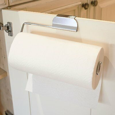 Over the Cabinet Door Paper Towel Holder for Kitchen or Bathroom Hanger