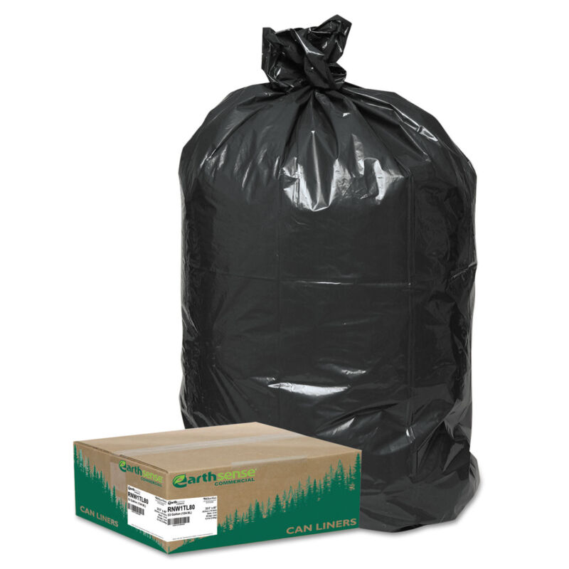 Earthsense Commercial Recycled Large Trash and Yard Bags 33gal .9mil 32.5 x 40