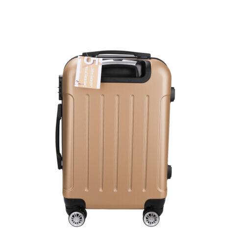 Trolley Handgepäck mit Doppelrollen Reisetrolley M Koffer Hartschalenkoffer 20