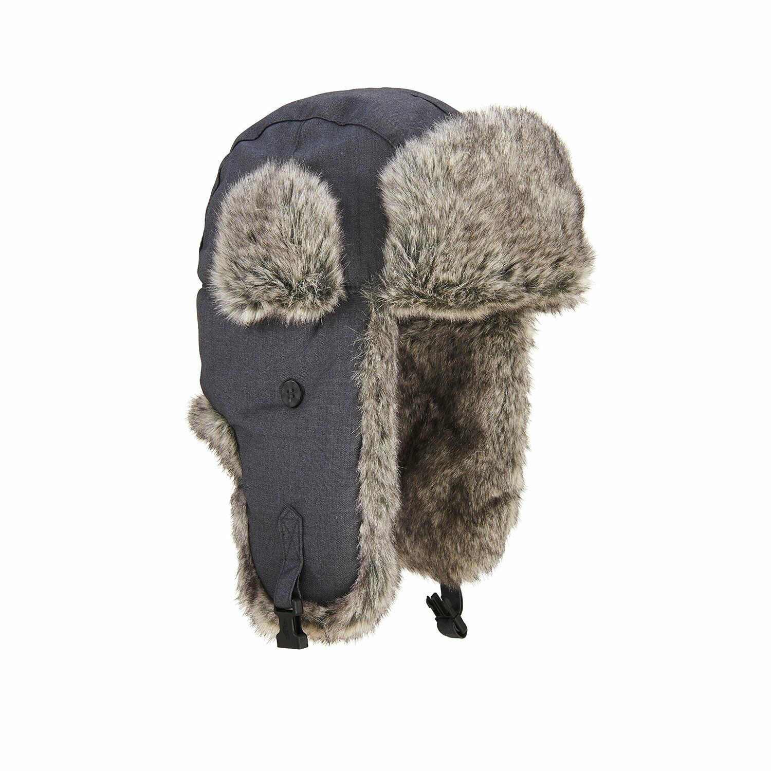 Extremities Ajo Faux Fur Lined Trapper Hat - Grey One Size ... d4ed3977b70