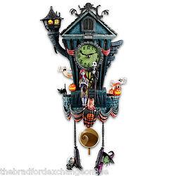 Tim Burton's The Nightmare Before Christmas Wall Cuckoo Clock With Jack & Sally