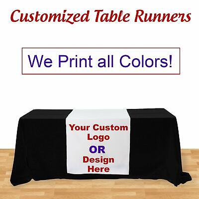 Custom Table Runner For Table Trade Show Table Cover Not Included 3 X 5.67