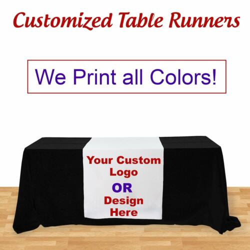 Custom Table Runner for Trade Show Exhibition Table Cover not Included 3