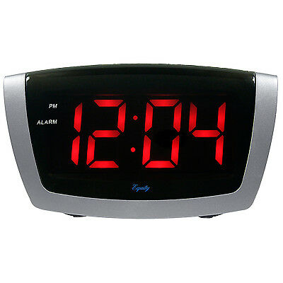 75906 Equity by La Crosse AC Powered Red LED Digital Alarm Clock - DAMAGED BOX