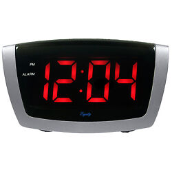 75906 Equity by La Crosse AC Powered Red LED Digital Alarm Clock - DAMAGED BOX