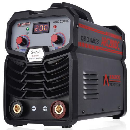Amico ARC-200DC, 200 Amp Stick/Lift-TIG Welder, 100-250V & 80% Duty Cycle, New