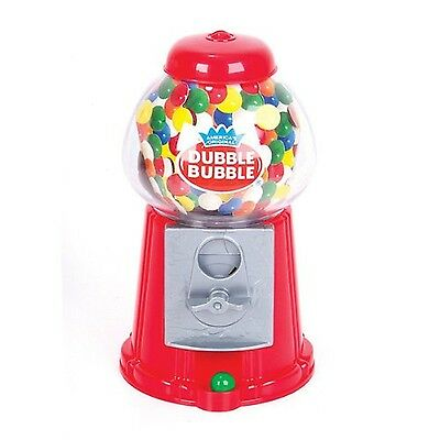 Classic Vintage Red Bubble Gum Machine Bank 50 Gumballs Included Candy Dispenser