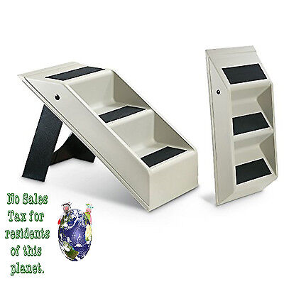 Plastic Pet Stairs 3 Steps Dog Cat Step Ramp Portable Indoor Animal Bed Ladder