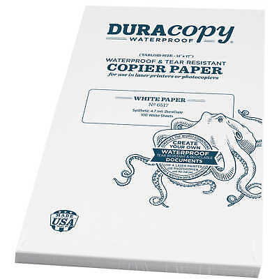 Duracopy Waterproof Copierlaser Printer Paper 11 X 17 100 Sheets