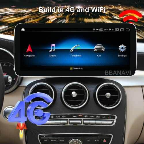 Android10 12.3Screen 1920HD Car Multimedia GPS Navigation Benz New C 300 GLC260
