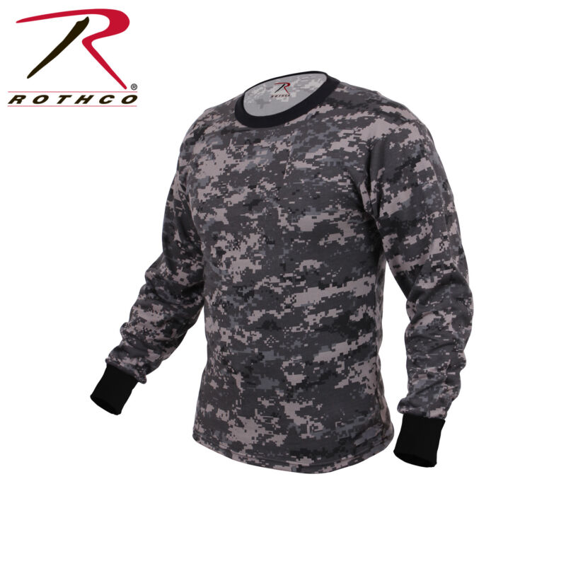 5670a30a924b7 Rothco Military Tactical Hunting Long Sleeve Camo T-Shirts | Color Subdued  Urban Digital