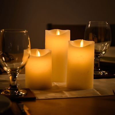 3x LED Teelichter Flammenlose Flackernde Elektrisches Kerzenlicht mit Batterie