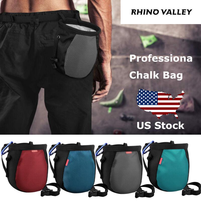Chalk Bag No Leak Rock Climbing Strawstring Bag W/ Adjustable Belt Gymnastics US