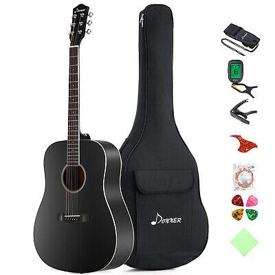 Donner 41 Inch Acoustic Guitar Dreadnought Guitar Bundle Gig Bag Beginner Kit