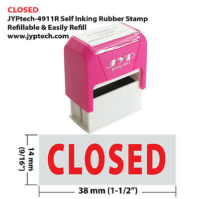 Closed -jyp 4911r Self Inking Rubber Stamp Red Ink