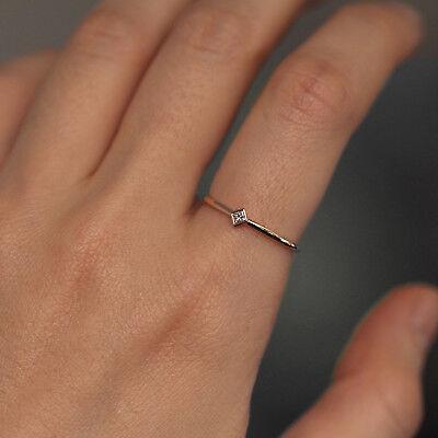 Cut Diamond Ring Band - Princess Cut Diamond Wedding Band / Rhombus Diamond Wedding Ring / Unique Band