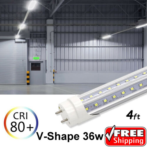 V-Shape 10-1000 PACK LED G13 4FT 4 Foot T8 Tube Light Bulbs Ultra 36W 6500K