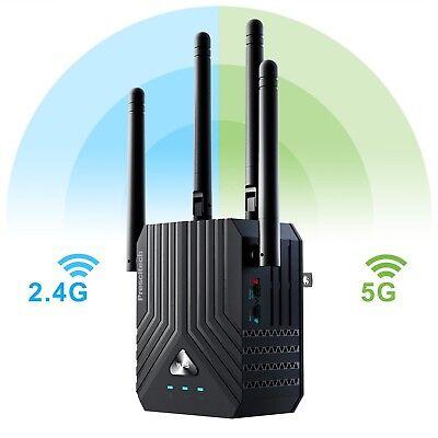 Prescitech AC1200 Dual Band Mini WiFi Range Extender/Wireles