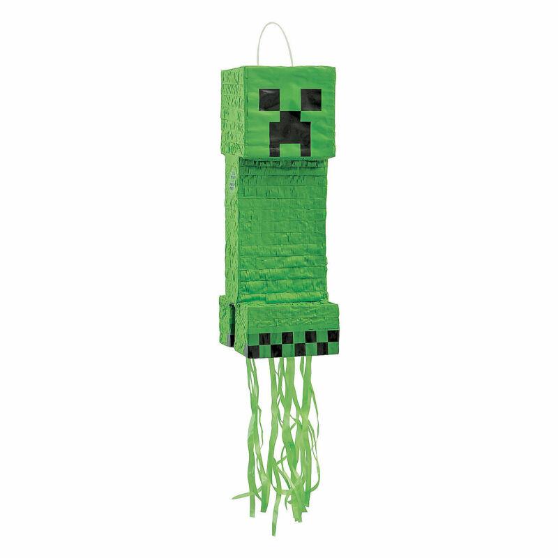Minecraft  Creeper Pull-String Pinata - Party Supplies - 1 Piece