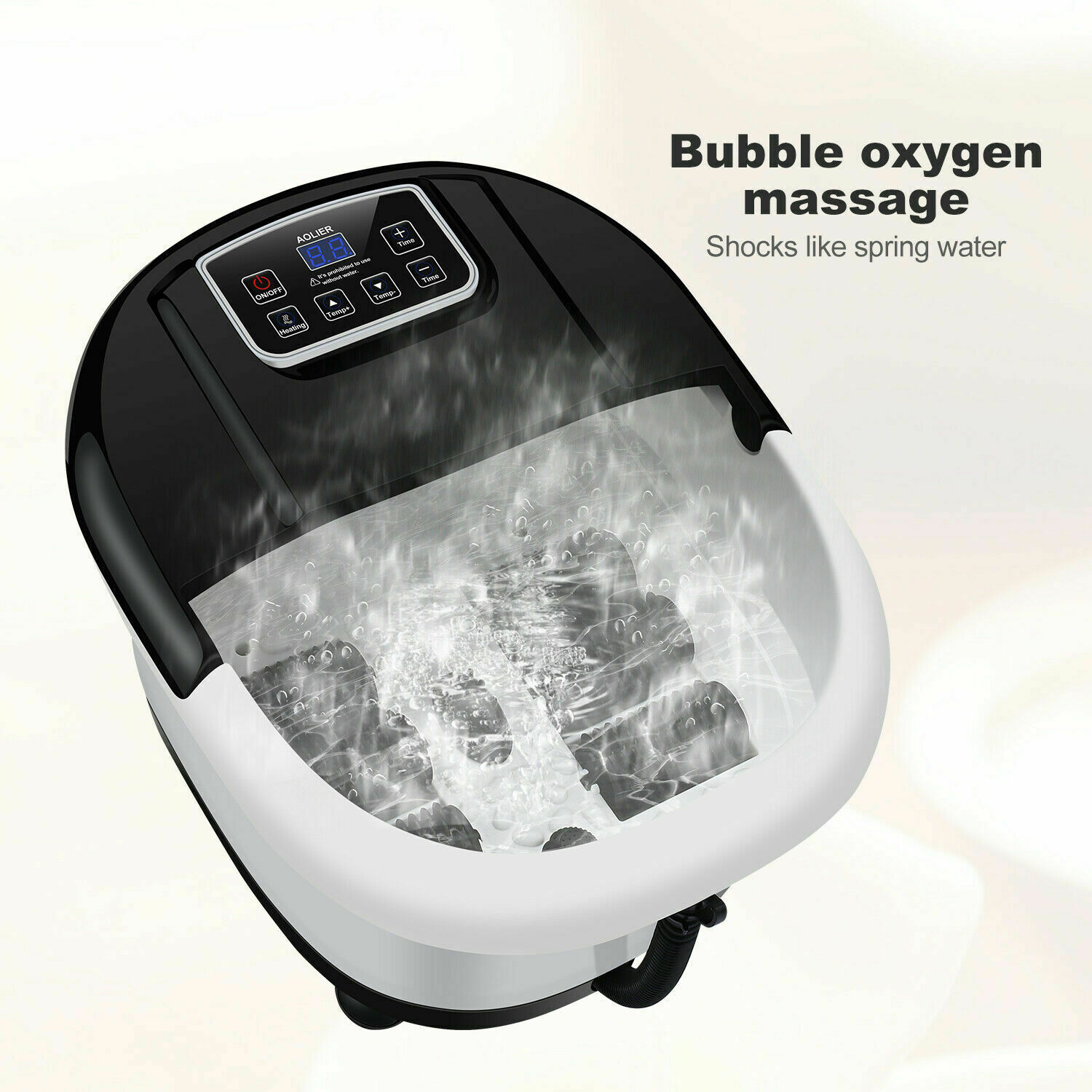 AOLIER Foot Spa/Bath Massager With Heat, Bubble-s And Vibrat