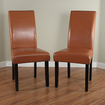 Dining Chairs Set 2 Piece Upholstered Kitchen Furniture Modern Parson Seat New 2 Piece Upholstered Seat