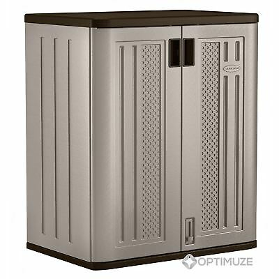 Outdoor Storage Cabinet Utility Base Box Yard Garden Patio Tool Shed Garage (Shed Base)