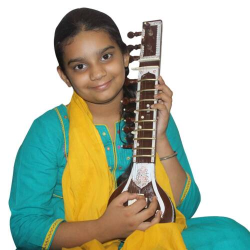 Ravi Shankar Style Kids (8 Years) Playing Sitar (21 Inch) With Kharaj Pancham
