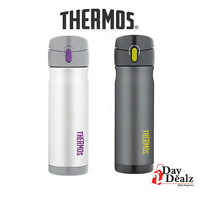 NEW THERMOS 16 OUNCE STAINLESS STEEL COMMUTER VACCUM INSULATED BOTTLE JMW5005 - New Stainless Steel Thermos
