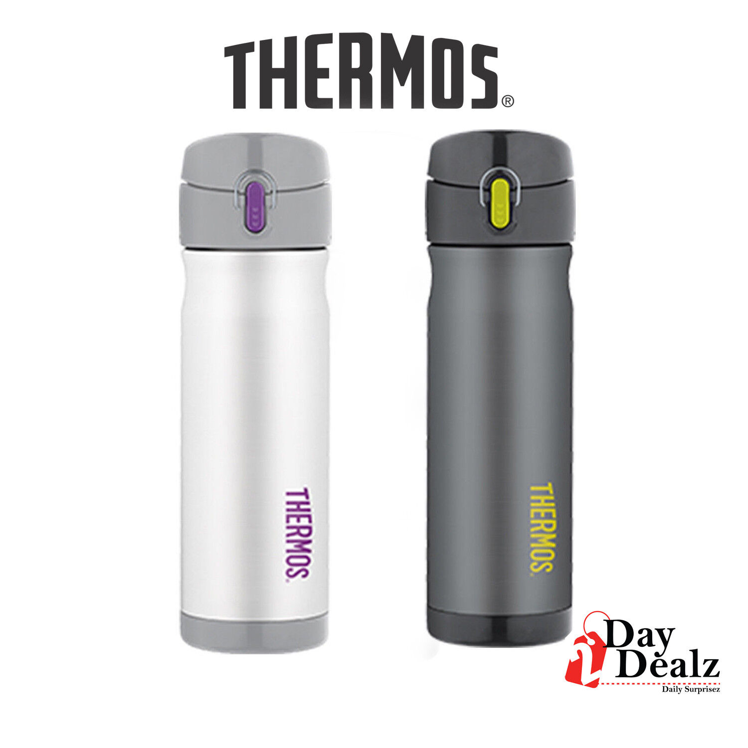 NEW THERMOS 16 OUNCE STAINLESS STEEL COMMUTER VACCUM INSULAT