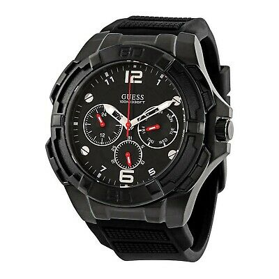 Guess Genesis Men's Analog Quartz Watch with Silicone Bracelet W1254G2