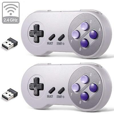 Wireless SNES USB Classic Controller Joystick Joypad  for PC (Classic Joystick For Pc)