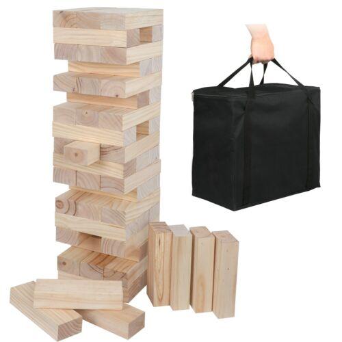 Blocks Game Giant Tumble Toppling Timbers Wood Stacking game 54 Pieces Backyard Games