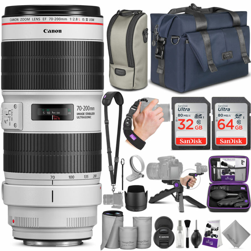 Canon Ef 70-200mm F/2.8l Is Iii Usm Lens W/ Complete Accessory And Travel Bundle
