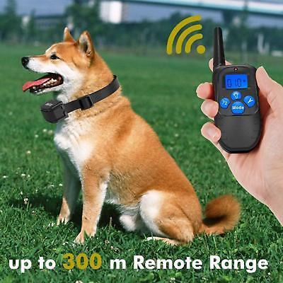 Best Waterproof Dog Training Collar Shock Electric Remote Rechargeable 1000