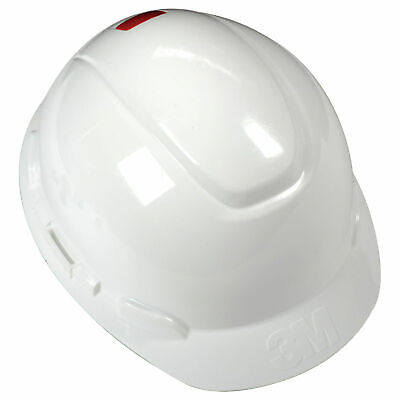 3m8482 Hard Hat With Uvicator White 4-point Ratchet Suspension H-701r-uv