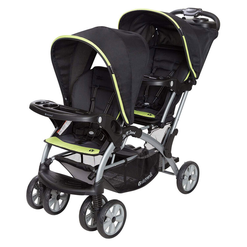 Baby Trend Double Sit N' Stand Toddler and Baby Stroller System, Optic Green