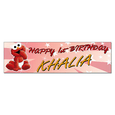 Baby Elmo Party Decorations (Personalized & Custom Printed Baby Elmo Birthday Party Banner Poster)