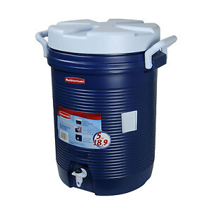 Rubbermaid 5 Gallon Modern Blue Water Jug Cooler