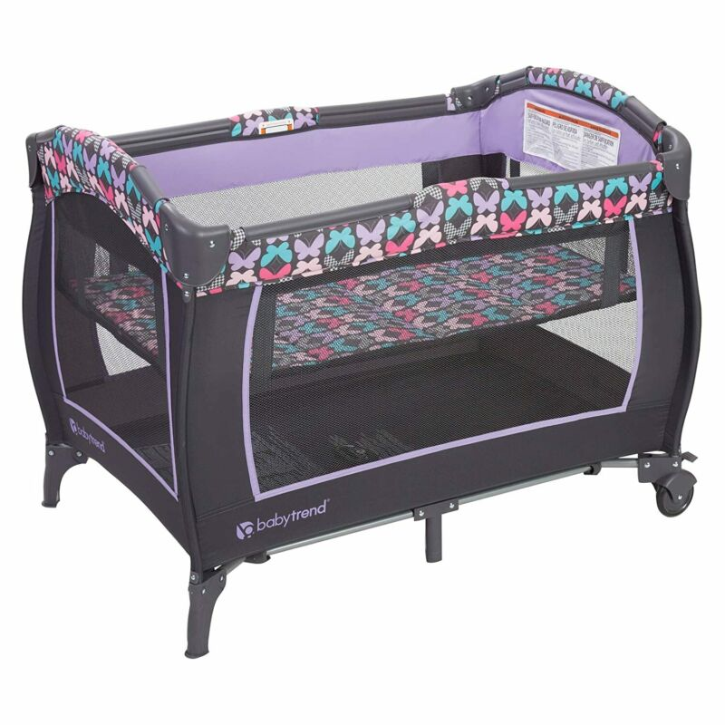 Baby Trend Trend-E Nursery Center with Bassinet and Locking Wheels (Open Box)