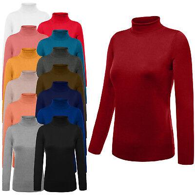 NE PEOPLE Womens Turtleneck Ribbed Detail Long Sleeve Pullover Sweater (Detailed Turtleneck)