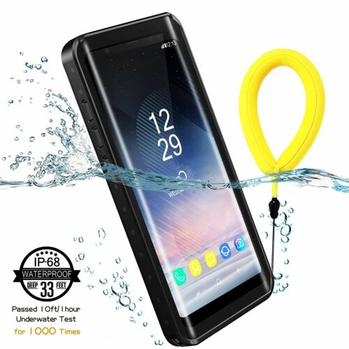 uk availability a729c 0937f Details about Galaxy Note 8 Waterproof Case & Yellow Floating Strap For  Samsung Note 8 Temdan