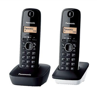 Panasonic KX-TG1612SP1 Kit de 2 Teléfonos Fijos Digitales inalámbricos Negro