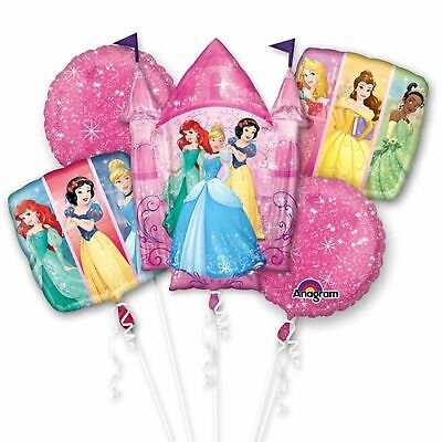 Disney Princess Birthday Balloons (Disney Princess 5pc Bouquet Birthday Party Foil Balloons)