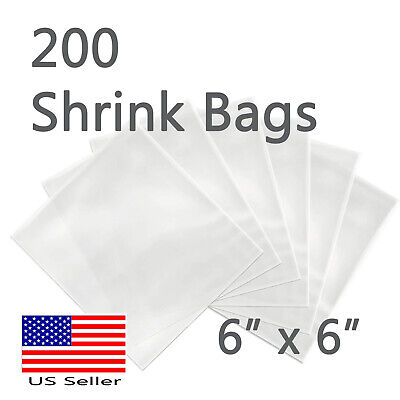 200 Pcs Shrink Wrap Bags 6x 6 Candles Soaps Bath Bombs Small Gift Pvc Film